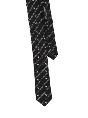 Dolce & Gabbana: ties & bow ties online - Striped silk tie