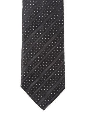 Dolce & Gabbana: ties & bow ties - Polka-dots striped silk tie