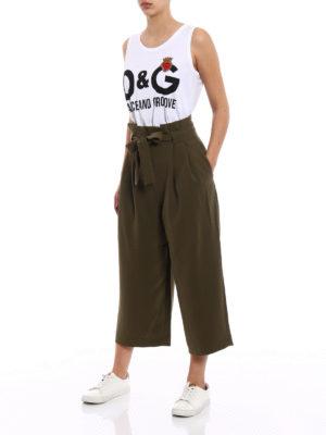 Dolce & Gabbana: Tops & Tank tops online - Heart patch and logo print tank top
