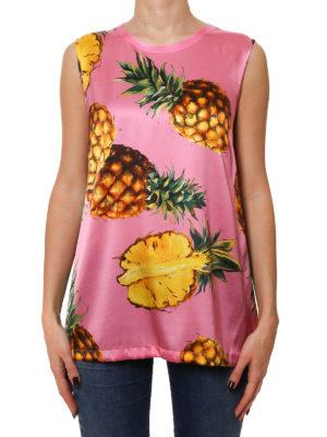 Dolce & Gabbana: Tops & Tank tops online - Pineapple print sleeveless top