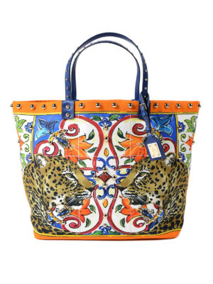 Dolce & Gabbana: totes bags - Beatrice canvas shopping bag