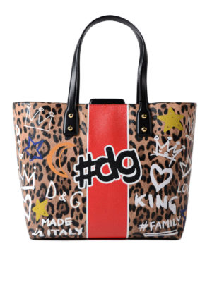 Dolce & Gabbana: totes bags - Beatrice coated canvas shopping bag