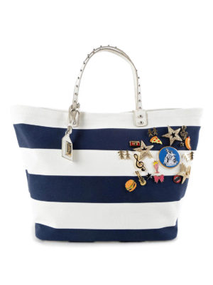 Dolce & Gabbana: totes bags - Beatrice shopper with brooches