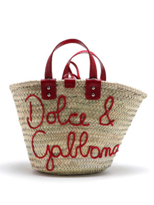 DOLCE & GABBANA: totes bags - Kendra straw tote bag