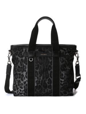 Dolce & Gabbana: totes bags - Leo print nylon tote