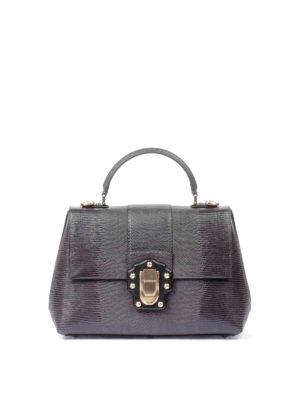 Dolce & Gabbana: totes bags - Lucia iguana print leather bag