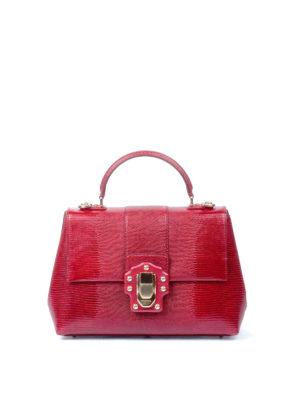 Dolce & Gabbana: totes bags - Lucia iguana print leather tote