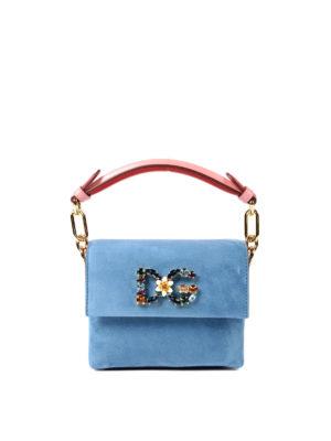 Dolce & Gabbana: totes bags - Millennials Mini suede jewel bag