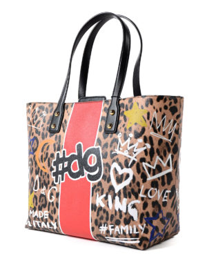 Dolce & Gabbana: totes bags online - Beatrice coated canvas shopping bag