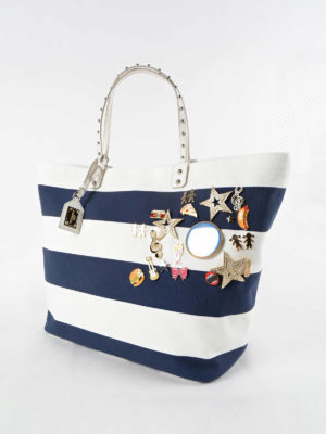 Dolce & Gabbana: totes bags online - Beatrice shopper with brooches
