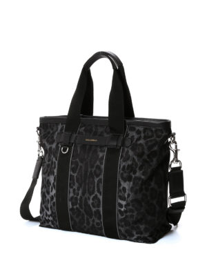 Dolce & Gabbana: totes bags online - Leo print nylon tote