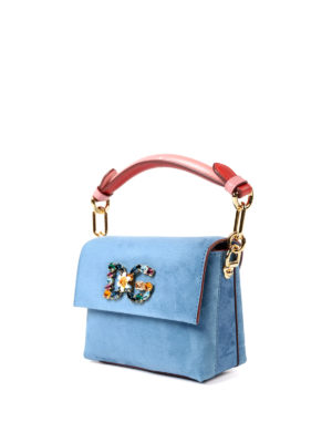 Dolce & Gabbana: totes bags online - Millennials Mini suede jewel bag