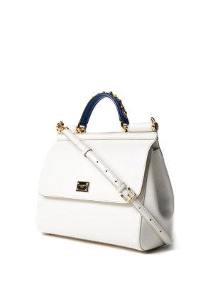 Dolce & Gabbana: totes bags online - Sicily blue handle large handbag