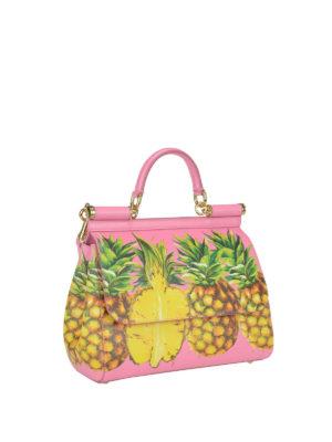 Dolce & Gabbana: totes bags online - Sicily Medium Ananas print  handbag