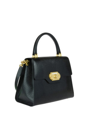 Dolce & Gabbana: totes bags online - Welcome iguana print leather tote