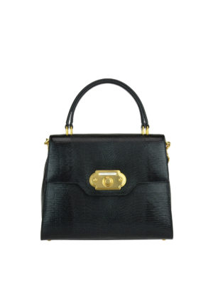 Dolce & Gabbana: totes bags - Welcome iguana print leather tote
