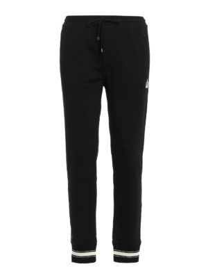 Dolce & Gabbana: tracksuit bottoms - Crown patch tracksuit bottoms