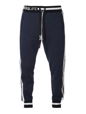DOLCE & GABBANA: pantaloni sport - Pantaloni in felpa con logo
