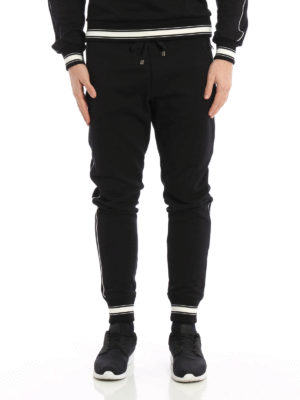 Dolce & Gabbana: tracksuit bottoms online - Crown patch tracksuit bottoms