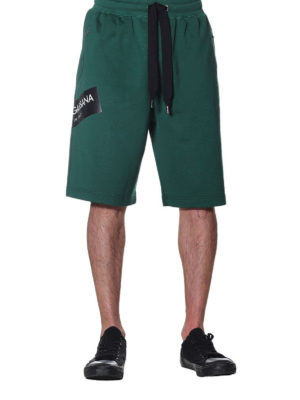 Dolce & Gabbana: tracksuit bottoms online - Sporty cotton bermuda