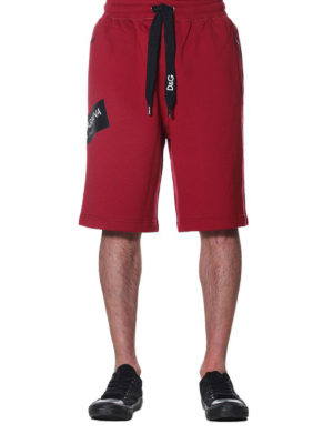 Dolce & Gabbana: tracksuit bottoms online - Sporty cotton shorts