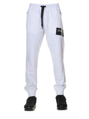 Dolce & Gabbana: tracksuit bottoms online - White cotton fleece track pants