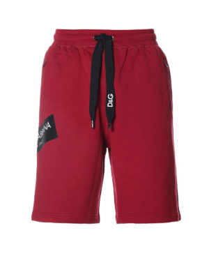 Dolce & Gabbana: tracksuit bottoms - Sporty cotton shorts