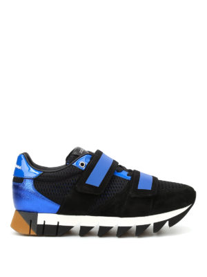 Dolce & Gabbana: trainers - Capri leather and mesh sneakers