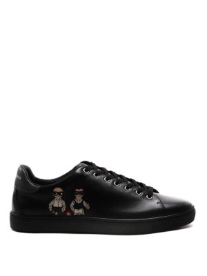 Dolce & Gabbana: trainers - DG Family patch leather sneakers