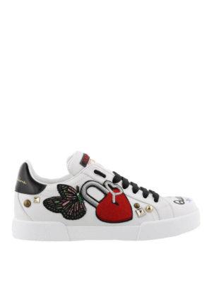 DOLCE & GABBANA: sneakers - Sneaker Portofino  DG love in pelle