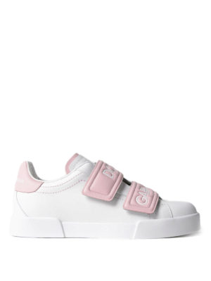 Dolce & Gabbana: trainers - Double strap leather sneakers