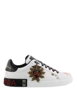 DOLCE & GABBANA: sneakers - Sneaker con applicazione cuore