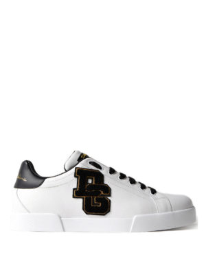 Dolce & Gabbana: trainers - Logo patch low top sneakers