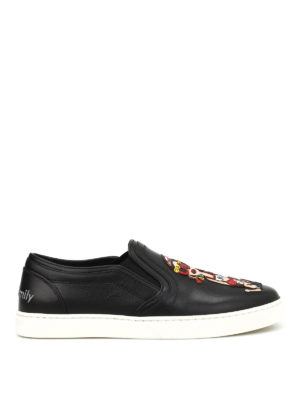 Dolce & Gabbana: trainers - London DG Family leather slip-ons