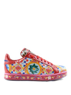 Dolce & Gabbana: trainers - Mambo print leather sneakers