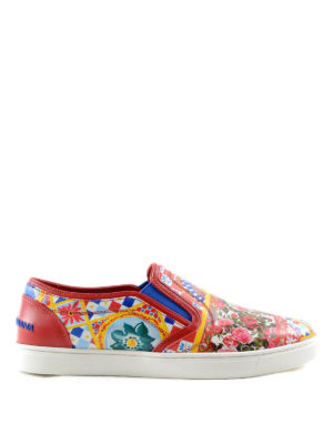 Dolce & Gabbana: trainers - Mambo print slip-on sneakers