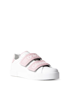 Dolce & Gabbana: trainers online - Double strap leather sneakers