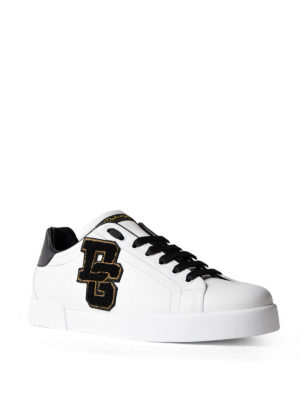 Dolce & Gabbana: trainers online - Logo patch low top sneakers