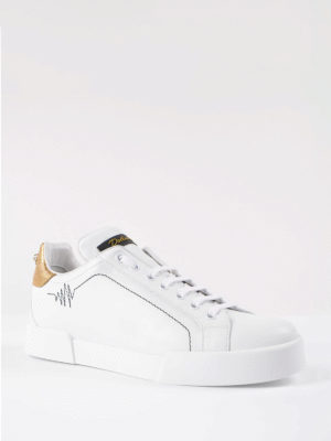 Dolce & Gabbana: trainers online - Maxi pearl leather sneakers