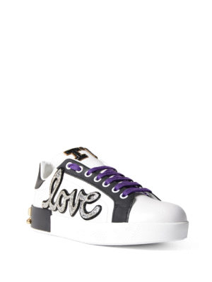 Dolce & Gabbana: trainers online - Multi decoration leather sneakers