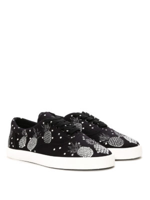 Dolce & Gabbana: trainers online - Pineapple print canvas sneakers