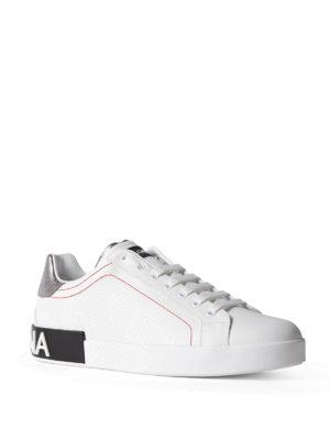 Dolce & Gabbana: trainers online - Portofino calfskin low top sneakers