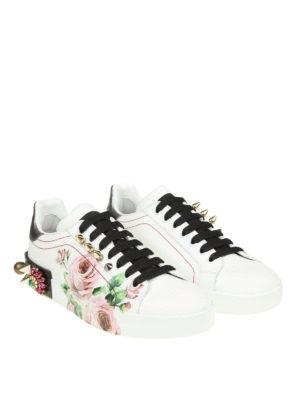 Dolce & Gabbana: trainers online - Portofino embellished sneakers