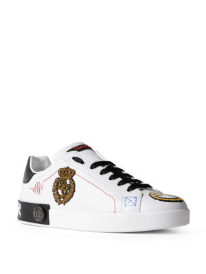 Dolce & Gabbana: trainers online - Portofino Forever leather sneakers