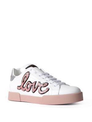 Dolce & Gabbana: trainers online - Portofino love patch sneakers