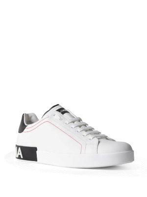 Dolce & Gabbana: trainers online - Portofino low top calfskin sneakers