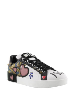 Dolce & Gabbana: trainers online - Portofino patch sneakers
