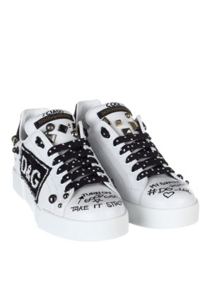 Dolce & Gabbana: trainers online - Portofino studs detailed sneakers