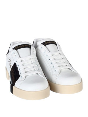 Dolce & Gabbana: trainers online - Portofino white leather sneakers