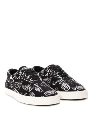 Dolce & Gabbana: trainers online - Trumpets print canvas sneakers